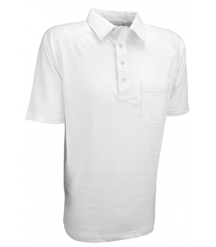 OW-SHSP Men's White Sports Pique Shirt