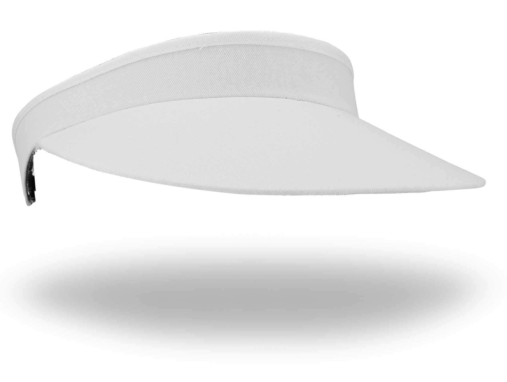 9b5f3cd61b9 White Curly Q Sun Visor-Adjustable - Emsmorn Bowlswear