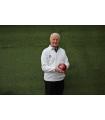 Men's V-Neck White Ribbed Bowls Pullover
